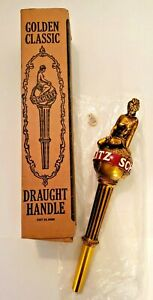 Vintage Schlitz Golden Classic Draught Handle Beer Tap NIB Lady on the Earth