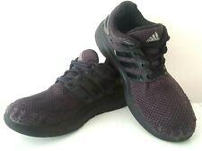 adidas Mens Boys CLOUDFOAM Black Athletic Running Sneakers Trainers UK 6