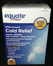 NEW EQUATE COLD RELIEF ASPIRIN NSAID PAIN-FEVER RELIEVER 48 EFFERVESCENT TABLETS