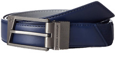 Under Armour Men's UA Reversible Leather Navy/Gray Belt Size 32 1286581-409