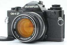 【EXC+5】 Olympus OM-4 Ti Black 35mm SLR Film camera + Auto-s 50mm F1.4 From JAPAN