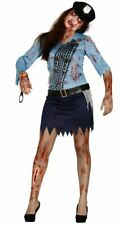 Womens Zombie Police Copper Undead Halloween Fancy Dress Costume Ladies Outfit