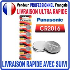 Pile CR2016 Lithium 3V PANASONIC Pile bouton  QUALITÉ PREMIUM