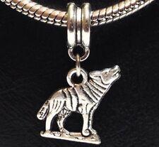 *WOLF*_Bead for European Chain Charm Bracelet_Howl Fang Wild Dog Animal Werewolf