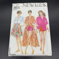 Simplicity New Look Vintage Sewing Pattern #6716 Misses Shirt Skirt Shorts 8-18