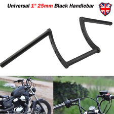 "Black Drag 1"" Z Bar Motorcycle Pullback Handlebar For Harley Chopper Bobber Dyna"