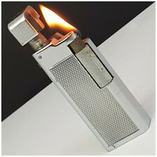 Briquet essence EDALCO GENÈVE chromé Petrol Lighter-Feuerzeug-Accendino-打火机