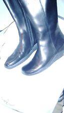 Bally Damen Stiefel Leder schwarz Reiterstil Riding Boot NEU