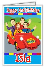 Wiggles Wiggly Lachy Boy Girl Wiggle Personalised Birthday Card - any name & age