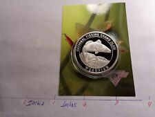 Weakfish Gray Trout Fish National Fishing Grand Slam 999 Silver Coin Info Card#C