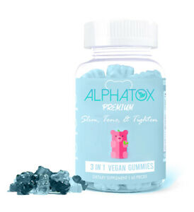 30 CT Alphatox Slim Tone Tighten Gummy Bears Slimming Gummies Flat Tummy Tea ACV