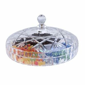 Dried Fruit Snack Plate Lid Creative Transparent Tray Candy Plates Dinnerware