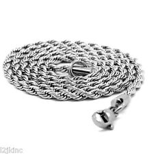 "Men & Lady Stainless Steel 3.2mm French Rope Link Chain Necklace 30"" Inches"