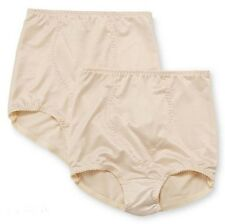 2 Pair Bali Light Control Brief Panties w Tummy Panel 8700 X70J Beige 2XL XXL