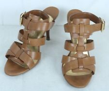 IVANKA TRUMP Brown Leather Open Toe Strappy Bootie Ankle Strap Sandals Size 8 M