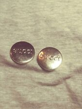 2 Gucci Vintage Silver Buttons Replacement Sewing Accessories