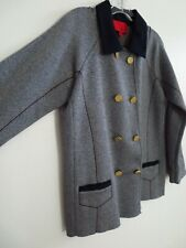 Z Spoke Zac Posen Jacket - Gold Button - Womens Large Navy Blazer - Speckled Top