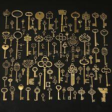 90Pcs Large Antiqued Gold Skeleton Keys Pendants wedding vintage old style lot