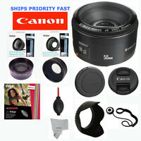 Canon EF 50mm F/1.8 II PRO Accessory Kit FOR CANON EOS REBEL T5 T4 T4I T3I 6D 7D