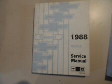 Chevrolet NOVA 1988 Shop Workshop Service manual Werkstatthandbuch