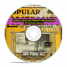 Popular Electricity Magazine, 72 Issues 1908-14, Power History PDF CD DVD E27