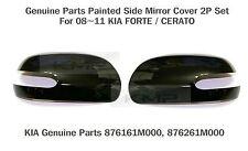 Kia Forte Cerato 2009-2013 GENUINE OEM Side Mirror Cover Left Right 2P Set 3D