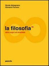 LA FILOSOFIA vol.1A-1B PARAVIA, Abbagnano Fornero, codice:9788839530929