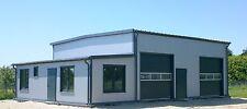 Isolierte Stahlhalle/ Büro 10 x 10 x 4,50/ 5,50 m  NEU!!