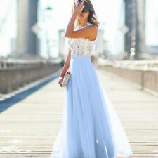 Women Ladies Wedding Bridesmaid Evening Party Ball Prom Gown Cocktail Maxi Dress