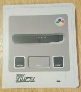 SNES Super Nintendo Entertainment System Notebook Retro Nostalgia Writing Pad