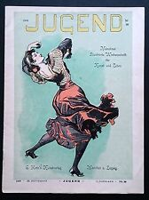 Revista Jugend No.39 año uno 1896 Alemán Art Nouveau Jugendstil Bruno Paul en muy buena condición
