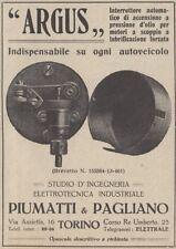 Z2942 Interruttore di sicurezza per auto ARGUS - Pubblicità d'epoca - 1917 ad