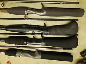 Spin Cast Fishing Rods Lot Of 4 Zebco , Daiwa And Shakespeare.  # 562
