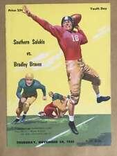 Southern Salukis Bradley College Football Program - 1955 - Ex