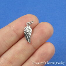.925 Sterling Silver Tiny ANGEL WING CHARM Memorial Heaven PENDANT