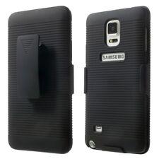 Samsung Galaxy Note 4 Outdoor Handy Tasche Holster Gürtelclip Cover Schwarz