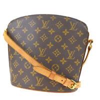 Auth Louis Vuitton Drouot Shoulder Bag Monogram Leather Brown M51290 88MD628
