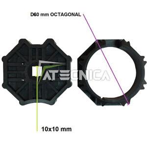 Adattatore per motore tapparella 60 mm ottagonale attacco 10x10 mm