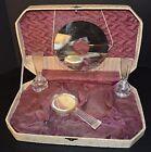 Antique Vanity Perfume Set Bakelite? & Glass