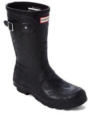 New Hunter Black Water Texture Short Boots Short SZ 6