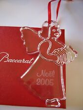 RARE NEW in BOX w/ pouch BACCARAT Crystal 2005 NOEL Ornament FREE USA Shipping