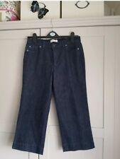 Topshop Indigo Cropped Wide Leg Jeans Size 12