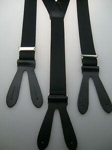 Y- Hosenträger 35 mm breit echt Lederpatten mit Knopfloch Neuware BLITZVERSAND