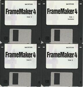 Adobe Framemaker 4 ~ 12 disk set for Mac including PSPrinter & Upgrade 4.04~ VTG