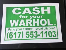 Cash for your Warhol CFYW -Fund your Startup Heliotrope Edition- Swoon