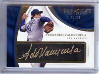 Fernando Valenzuela 2017 Panini Immaculate Tweed Weave Autograph Dodgers #FV /15