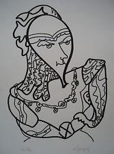 LAPICQUE Charles - Lithographie lithograph signée numérotée l'intrigant 1967 **