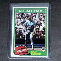 1981 Topps Baseball #540 Mike Schmidt HOF Philadelphia Phillies - 3B