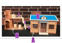 Sylvanian families spares st. Francis' school house and library accessories