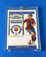 Lionel Messi 2019/20 Panini Chronicles Soccer Contenders Historic Ticket Card